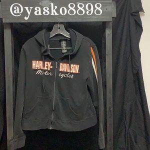 Women's Harley Davidson full zip hoodie